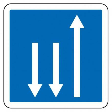 Créneau de dépassement dans le sens inverse de circulation