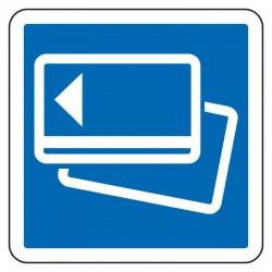 Indication d'un paiement par carte bancaire sur une route à péage