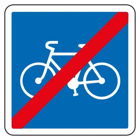 Sortie d'une piste cyclable