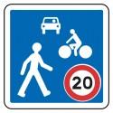 Entrée dans une zone de rencontre limitée à 20 km/h