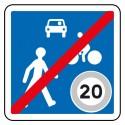 Sortie d'une zone de rencontre limitée à 20 km/h