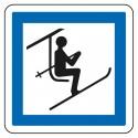 Point de départ d'un télésiège ou d'une télécabine