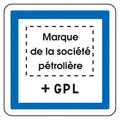 Station service + GPL (avec logo de la société pétrolière)