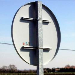 Support galvanisé pour panneau de signalisation