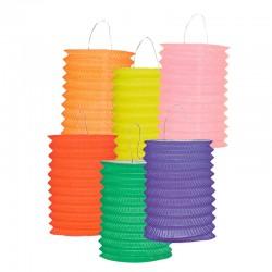 Lanterne cylindrique unicolore