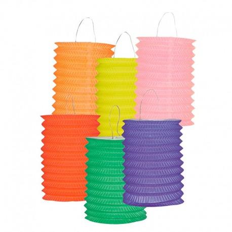 Lanternes cylindriques - Ø 13 cm - Unicolores