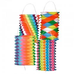 Lanterne cylindrique multicolore Ø 13 cm