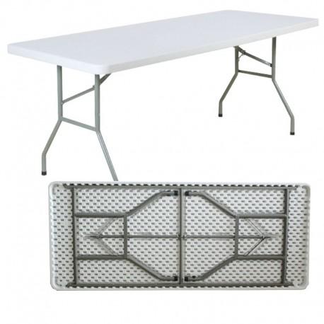 Table rectangulaire pliante en HPDE