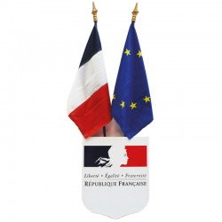 Kit de pavoisement des Ecoles 4 ecusson drapeau France Europe