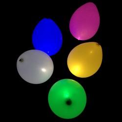 5 ballons multicolores à LED