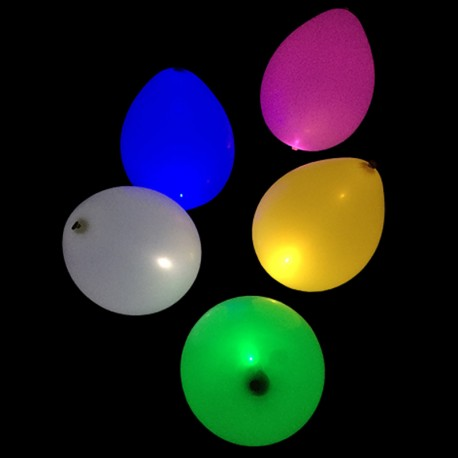 5 ballons multicolores à LED