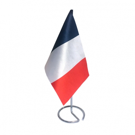 Drapeau de table France en tissu