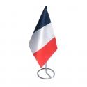 Drapeau de table France en tissu mât métal