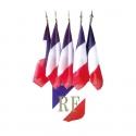 Ecusson tricolore RF et 5 drapeaux France