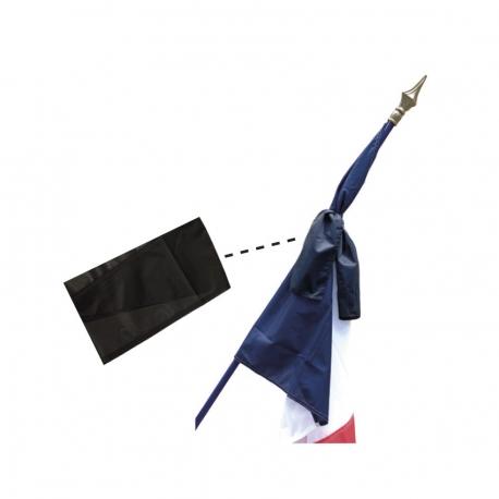 Ruban deuil noir Drapeaux Unic