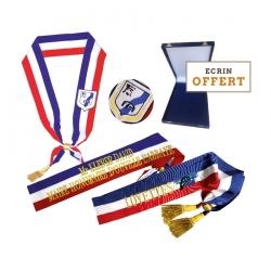 Offre echarpe brodée + écrin offert Drapeaux Unic
