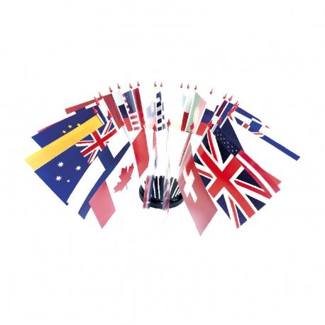 Drapeaux de table plastique international