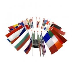 Drapeau de table plastique - Kit Europe