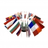Drapeau de table plastique - Kit Europe