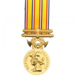 Médaille Sapeurs Pompiers 25 ans argent doré