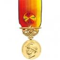Médaille Sapeurs Pompiers services exceptionnels argent doré