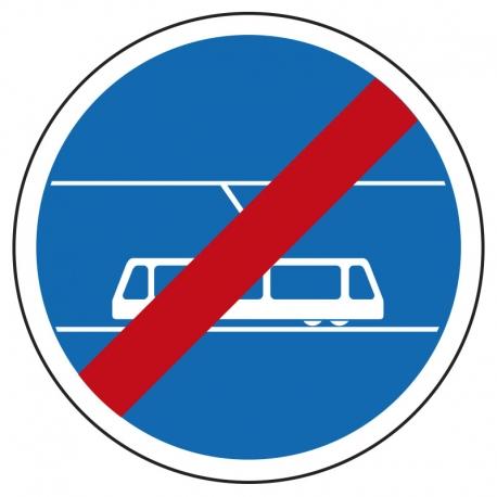 Fin de voie réservée aux tramways