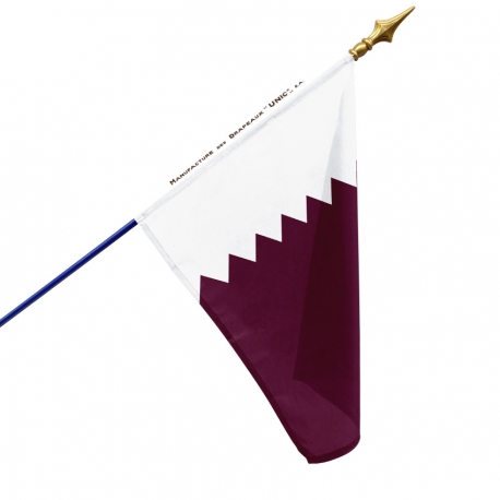 Drapeau Qatar dans drapeau du monde Unic