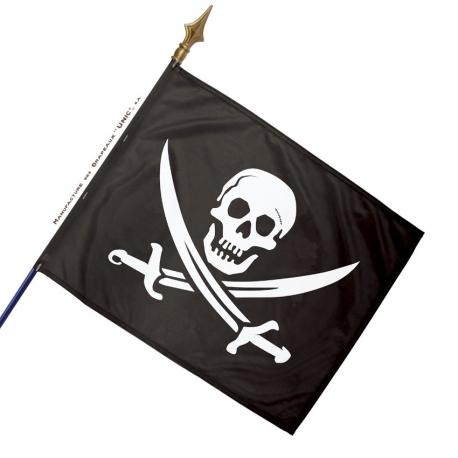 Drapeau pirate noir et blanc Drapeaux Unic