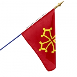 Drapeau Languedoc Unic drapeau region province