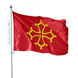 Pavillon Languedoc Unic drapeau region province