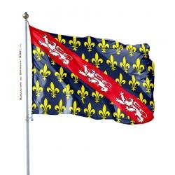Pavillon Marche dans drapeau province France Unic