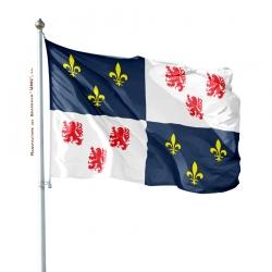 Pavillon Picardie dans drapeau province France Unic