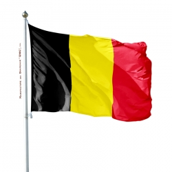 Pavillon Belge drapeau du monde Unic