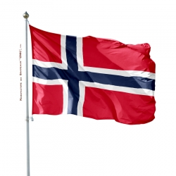Pavillon Norvege dans drapeau du monde Unic fabricant