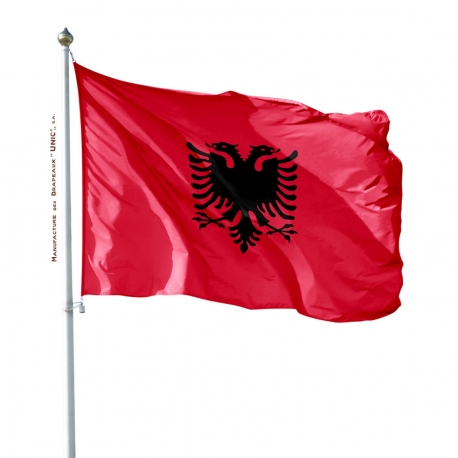 Pavillon Albanie drapeau du monde