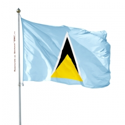 Pavillon Sainte Lucie drapeaux des pays