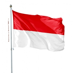 Pavillon Indonésie impression drapeau Unic