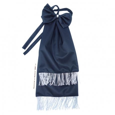 Cravate de deuil noire pour drapeau brodé