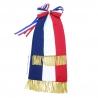 Cravate tricolore pour drapeau brodé