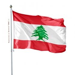 Pavillon Liban dans drapeau du monde Unic