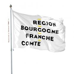 Pavillon Bourgogne Franche Comté région drapeaux Unic