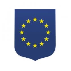 Ecusson porte drapeaux Europe