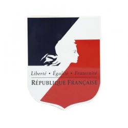 Ecusson porte drapeaux Fond tricolore