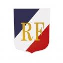 Ecusson porte drapeaux n°3 Tricolore + RF