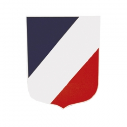 Ecusson porte-drapeaux 1 à 5 emplacements - Tous modèles