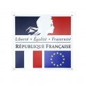 Devise de la République Française 75 x 80 cm