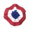 Cocarde tricolore en tissu 7 cm