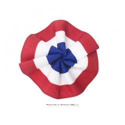 Cocarde tricolore en tissu 5 cm