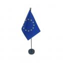Drapeau de table Europe en tissu mât bois