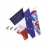 Kit 1 Pavillon France 1 Europe 1 Personnalisé anti-enroulement